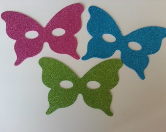 Glitter Butterfly Mask 10 pack, Masquerade, Masquerade Masks, Kids Masks, Foam Masks, Party Favors, Costume Accessories, Photo Booth