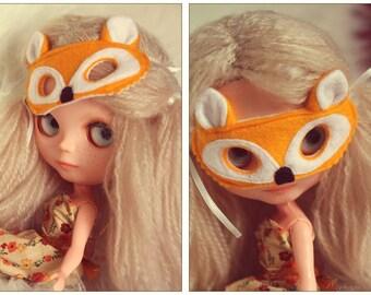 "Mask ""Orange Fox"" - Fox Mask for Blythe Doll"