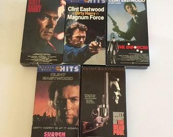 Lot of 5 Dirty Harry Movies Complete Series  Clint Eastwood (VHS)