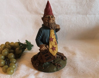 1995 Tom Clark Gnome Figurine titled Dad With Love in Great Condition