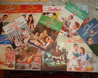 Wonderful Vintage  Mid Century  Sealtest Food Adviser  1 dozen paper cook booklets