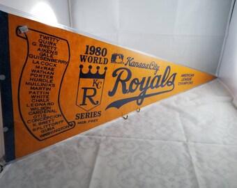 Great 1980 Kansas City Royals World Series Pennant