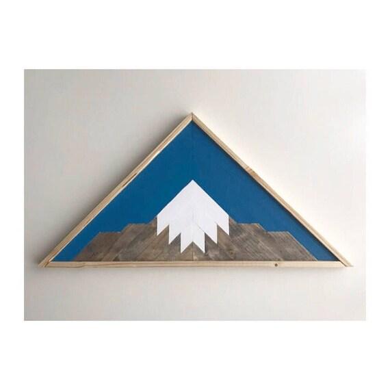 Mountain Range Reclaimed Wood, Rustic Home Mountain Art, Wood Mountain Art, Rustic Mountain Art, Wall Art Pallet Wall, Beach House Wood Wall