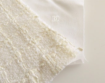 Chanel Fabric Swatch Ivory