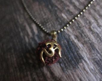 Mens Necklace,Men's Necklace,Hindu Necklace,Tibetan Necklace,Shiva's Tears Necklace,Rudraksha Seed Necklace,Mens Jewelry,Om Necklace,Shiva