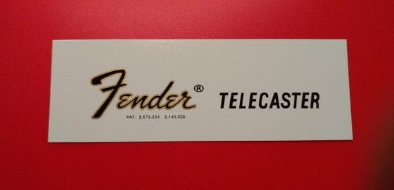Custom 72 Fender Telecaster Waterslide Decal