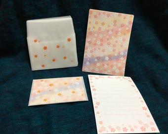 Cute mini stationery set sakura design from japan