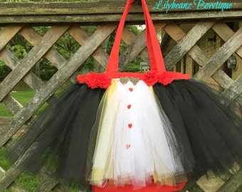 red queen tote, flower girl proposal gift, big sister gift, trick or treat bag, best selling items, little sister gift, tutu tote bag, tutu