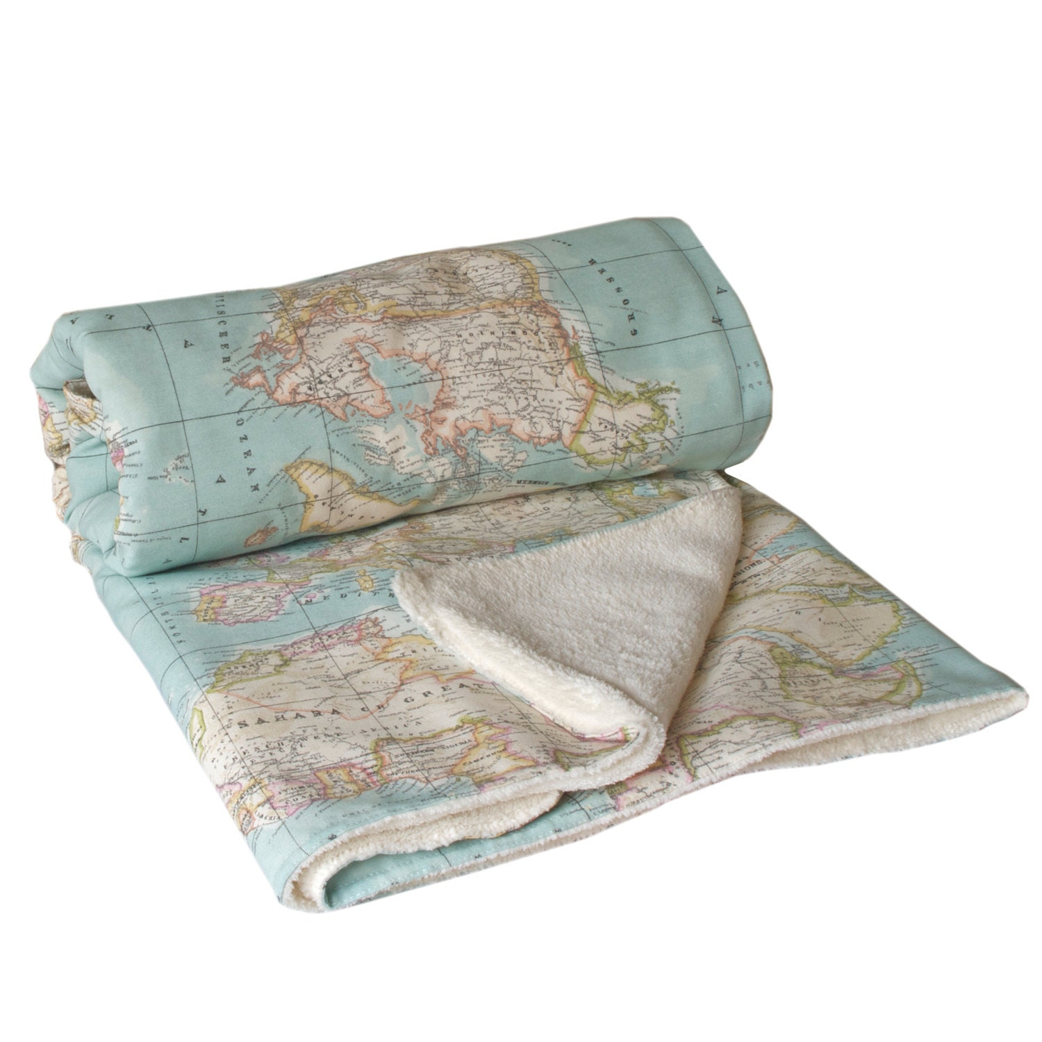 World Map Blanket Map Blanket Blue Blanket Baby Map - World map blanket