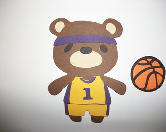 Cricut Teddy Bear Parade Basketball Player High School College NBA Die Cut Paper Piecing  Scrapbook