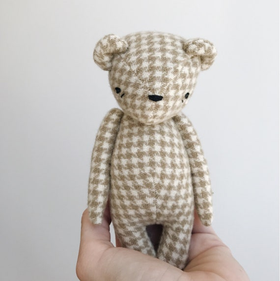 the dear ones | bear in houndstooth wool | ready to ship
