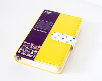 A6 Yellow Polka Diary | Yellow Notebook | Yellow Planner