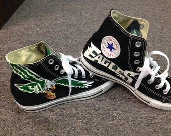 Philadelphia Eagles Shoes Hand Painted