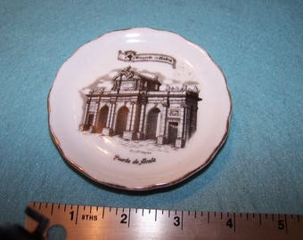 Vintage Souvenir Collector Plate Madrid Puerta de Alcala Spain