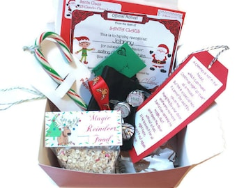 Santa gift personalized christmas eve box popcorn hot package personalized from santa santas magic key letter from santa nice certificate spiritdancerdesigns Gallery