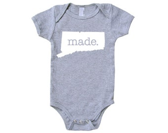 Connecticut  'Made.' Cotton One Piece Bodysuit - Infant Girl and Boy