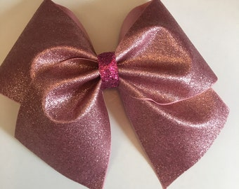Pink champagne cheer bow