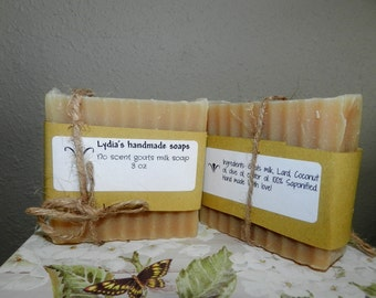 No scent goats milk soap