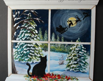 Decorative Painting Pattern Packet - Kitty Knows - Christmas Eve