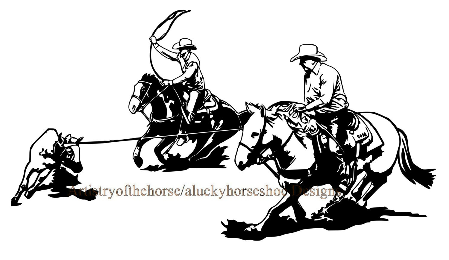 team roping coloring pages - photo#36