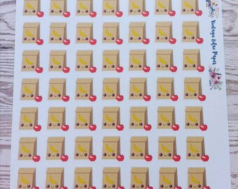 49 Kawaii Bag Lunch Planner Stickers