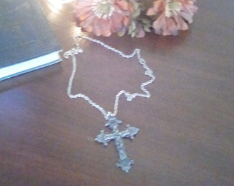 Torino Pewter Cross Necklace