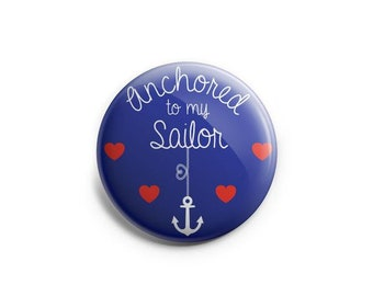 Anchored To My Sailor - Navy Boyfriend or Husband Topper