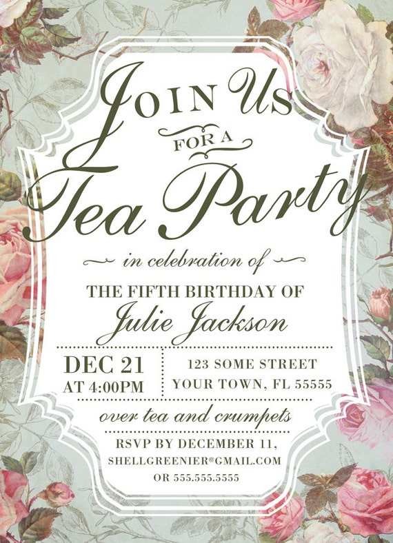tea invitation template