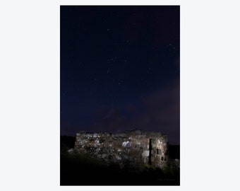 Night photography, Stone House in Co. Donegal, Ireland Photography