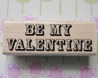 Be My Valentine 02, Valentine's Day - Stampabilities Rubber Stamp