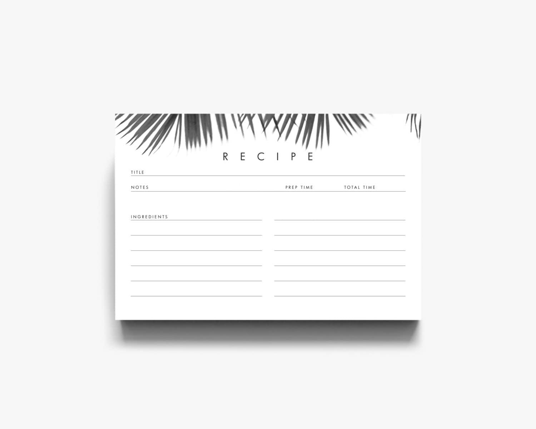 Printable recipe cards recipe template recipe card template zoom pronofoot35fo Choice Image