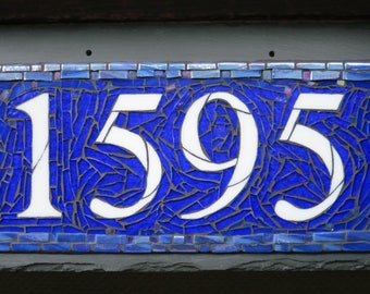 House Number with 4 Digits on 16x8 inch Slate