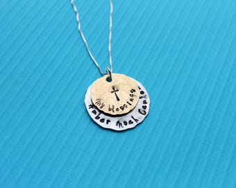 Blessings Necklace Grandmother Necklace Mothers Necklace Gift for Grandma Nana Mom Necklace My Blessings