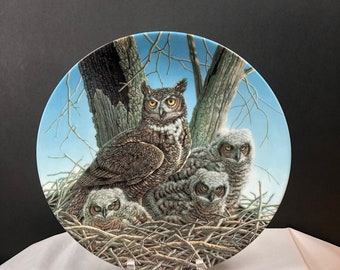 Great Horned Owl 2nd Issue in The Stately Owls by Jim Beaudoin for The Society for the Preservatin of Birds of Prey 1989