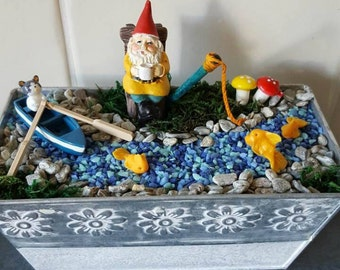 George Goes Fishing Fairy Garden Starter Kit