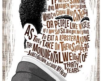 Famous Hair / Lines: James Baldwin