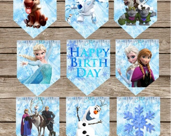 Frozen Birthday Banner! Digital Download! Frozen Princess Birthday!