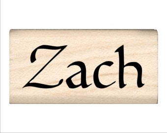 Zach - Name Rubber Stamp for Kids