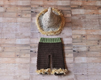 """Newborn Wizard of Oz """"Scarecrow"""" Inspired Outfit"""