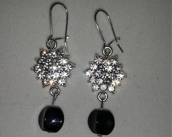 Sparkling drop earrings