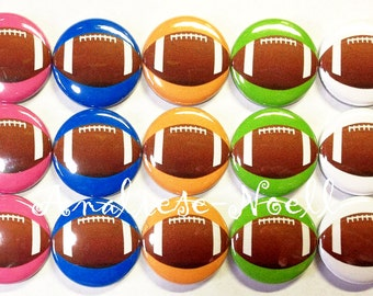 "Football Magnet, 1"" Button Magnet, Football Party Favor, Football Theme, Footballs, Football Magnet, Locker Magnet, Football Decor, Green"