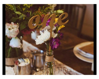 Wedding Table Numbers - 1/8 Inch wood table numbers wedding centerpiece wedding table number birthday party anniversary party