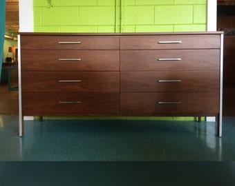 Paul McCobb Mid CenturyEight Drawer Walnut Dresser
