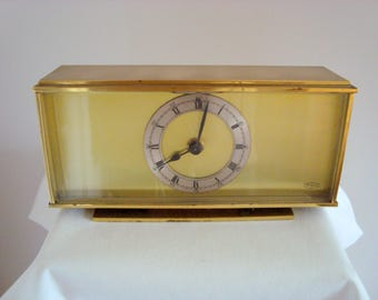 Vintage Smiths Tempora Brass Mantel Clock Sectronic Mk II Movement
