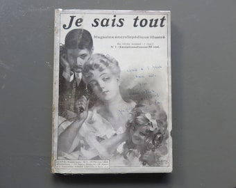 Former French Review: Je Sais Tout - Number One - 1905 - Paris