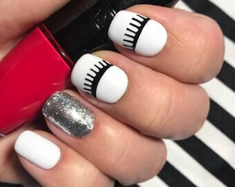 Eyelashes nail art vinyls - incredible nail stencils by Unail