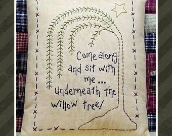 The Willow--Primitive Stitchery E-PATTERN-by Primitive Stitches-Instant Download