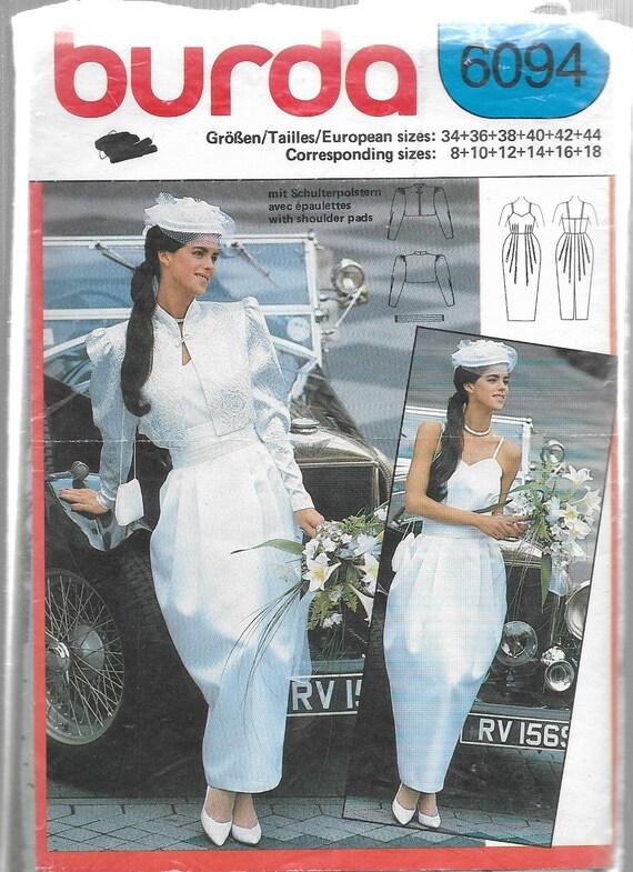 Uncut Sewing Pattern - Burda 6094 - BRIDAL ENSEMBLE - Strappy Bride ...