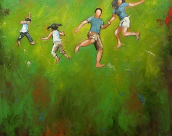 20x20 inch Print of Leap65 from oil painting by Roz