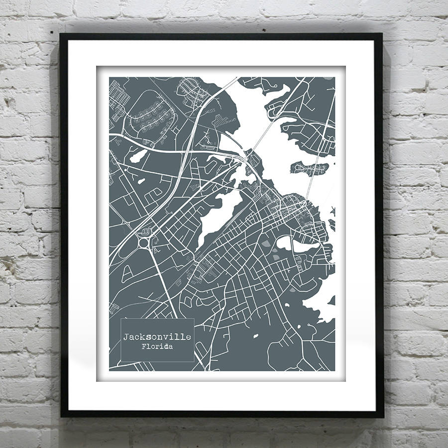 July 4th sale 15 off jacksonville florida blueprint map poster july 4th sale 15 off jacksonville florida blueprint map poster art print several sizes available fl version 1 malvernweather Gallery